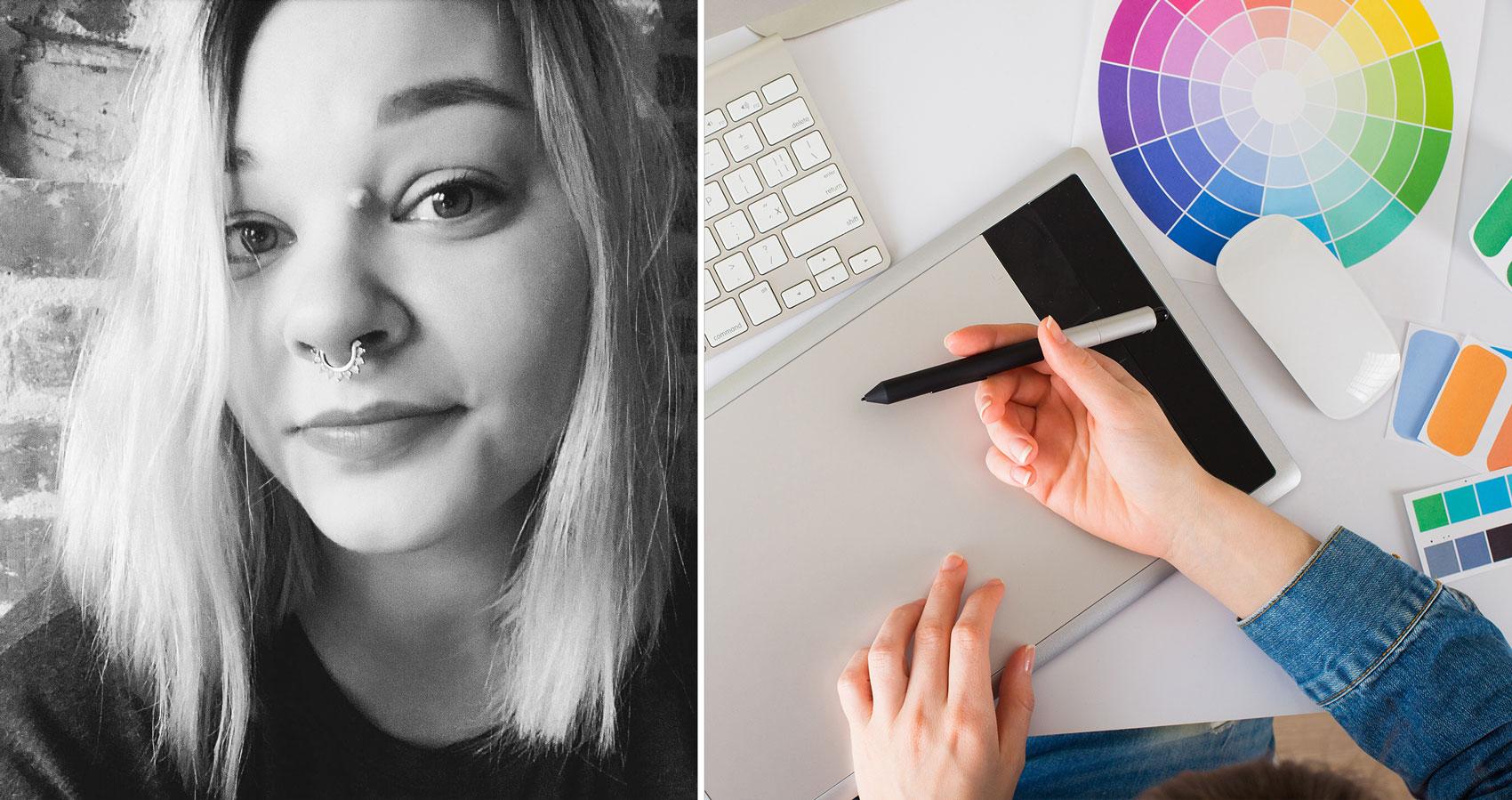 Silje Kveane, grafisk design nettstudier