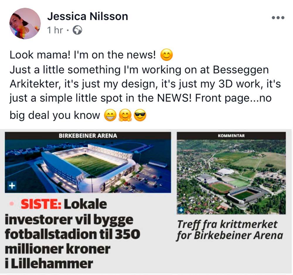 Jessica Nilsson status update