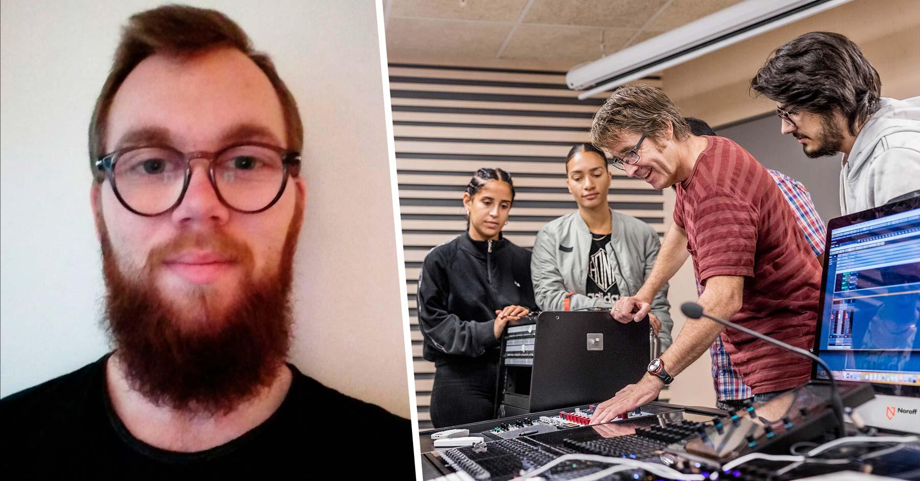 Daniel Gundersen, lyd- og musikkproduksjon Noroff Oslo