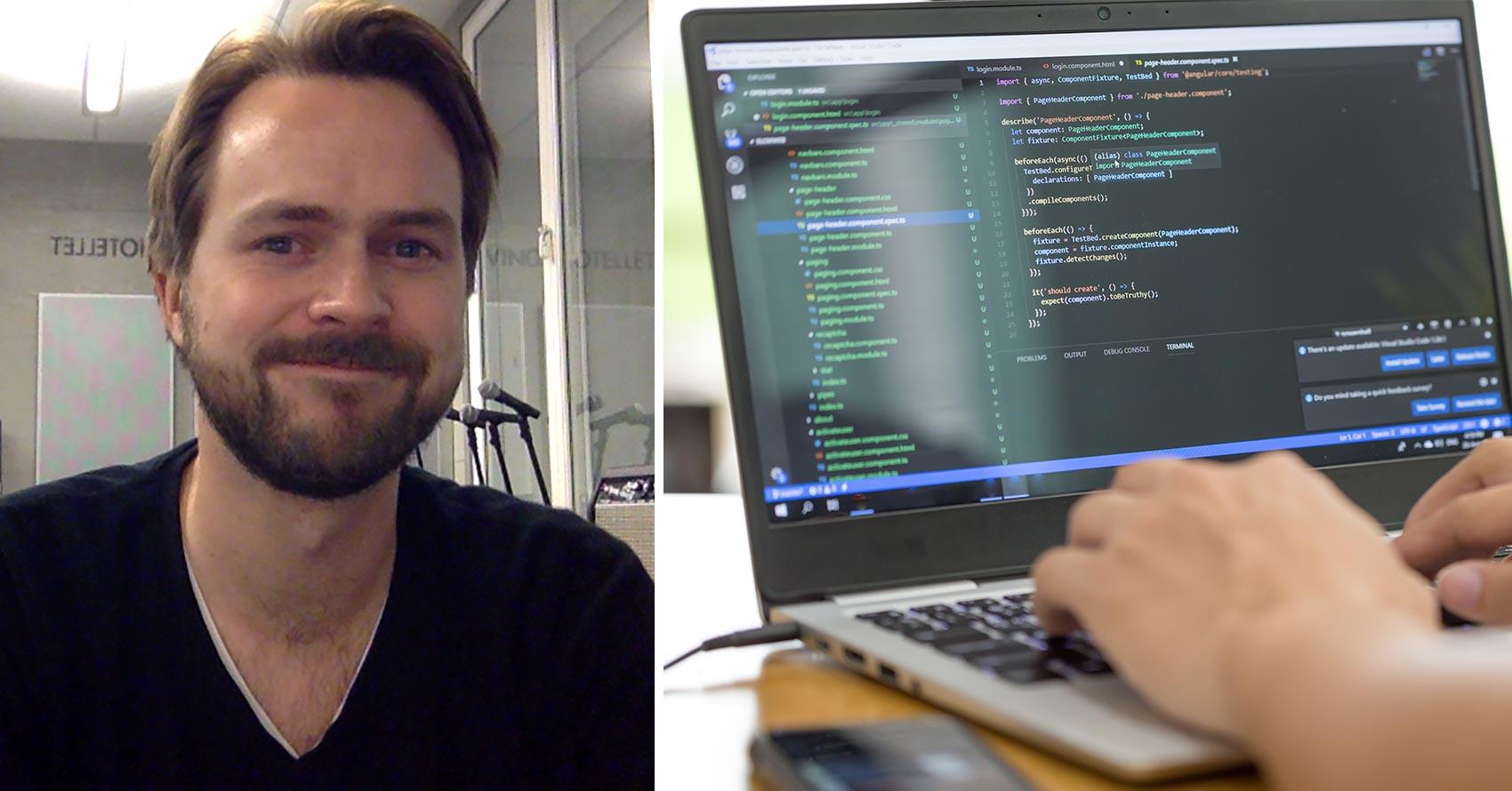 Morten Evensen, frontend-utvikling nettstudier