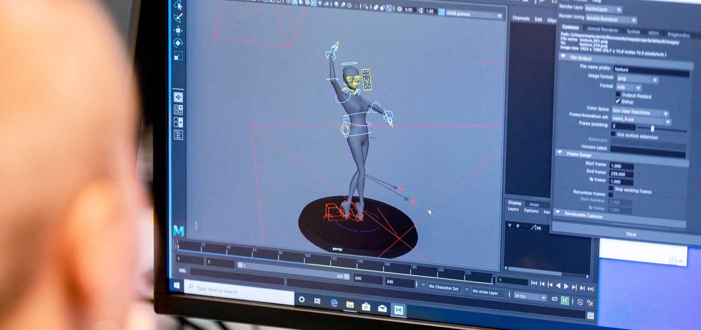 3D design og animasjon, utdanning