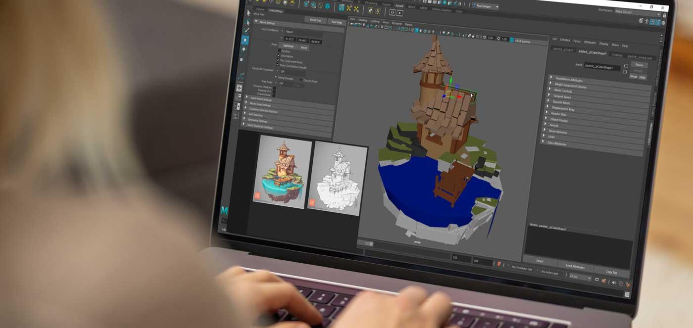 3D design og spillteknologi, utdanning