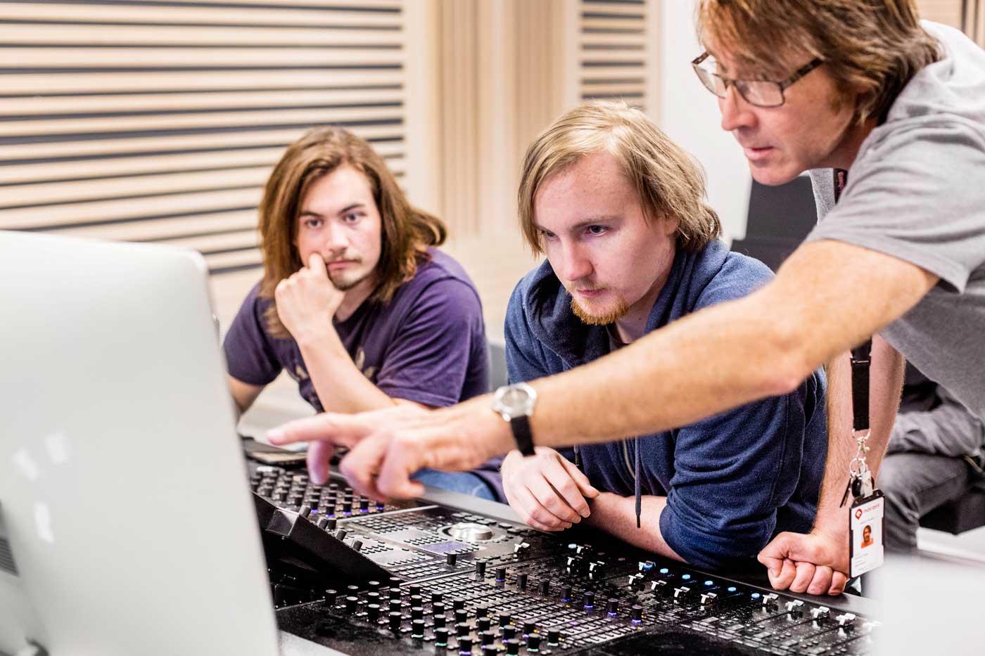 Lyd- og musikkproduksjon studium